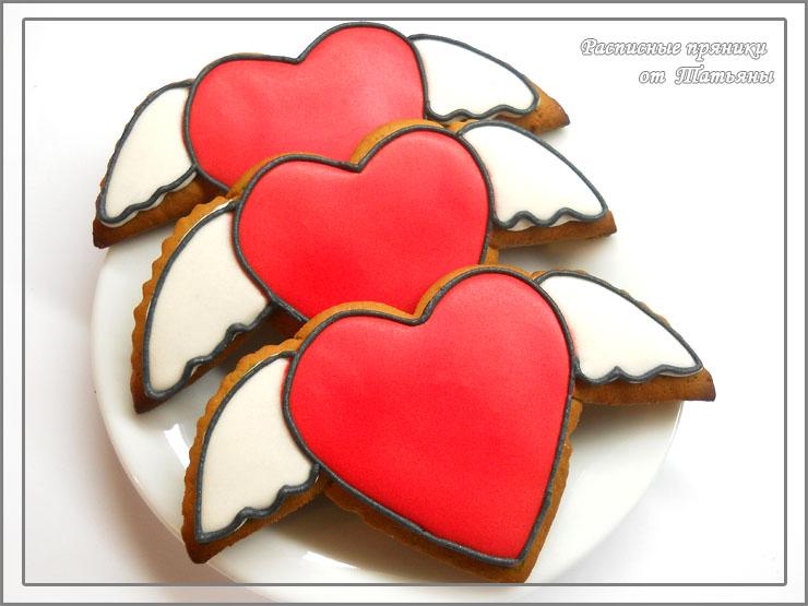 Пряники в форме сердца