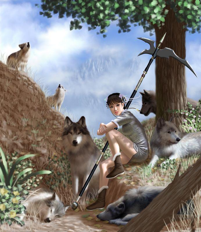 Девочка и волки