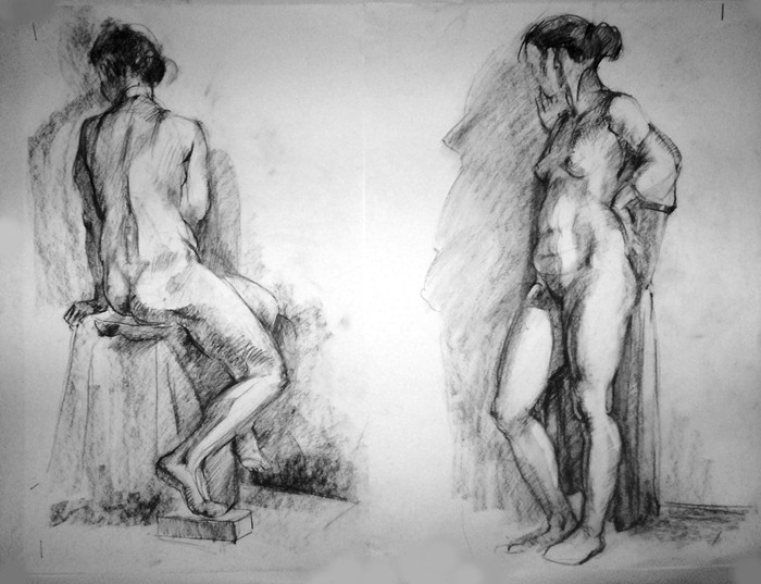 Женская Обнаженная Натура Рисунок