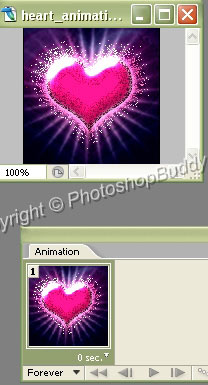 Creating retro style heart animation