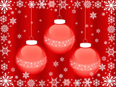 Новогодние игрушки со снежинками wallpaper