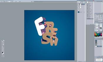 3D типографический эффект
