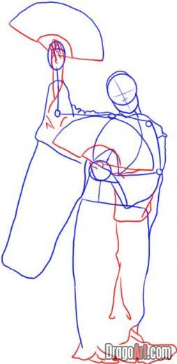 как нарисовать гейшу