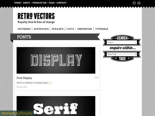 Качественные векторные изображения в стиле Ретро
