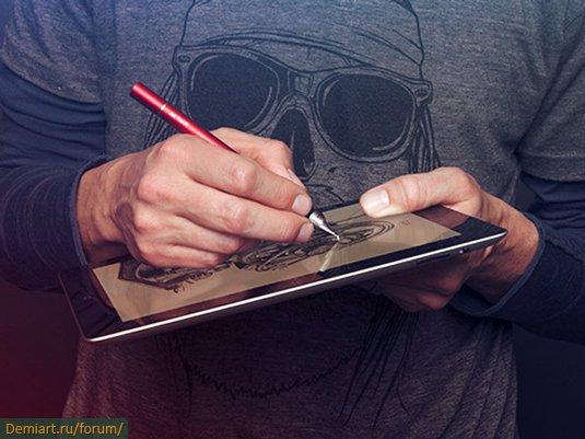 Новый стилус для рисования на iPad