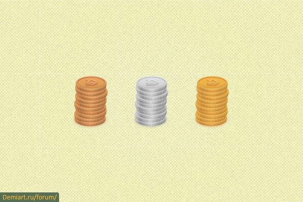 Создаем иконку монет в Illustrator