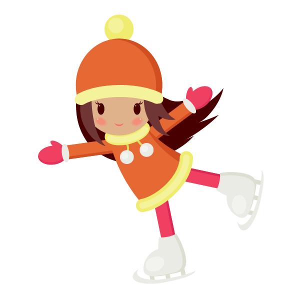 Рисуем девочку на коньках