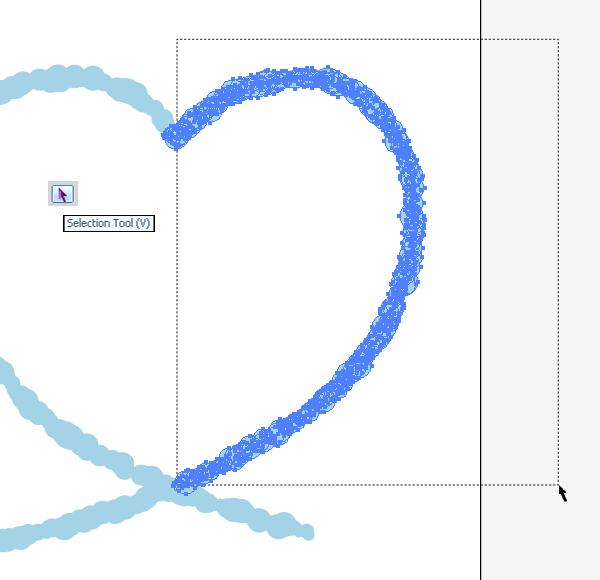 Валентинка с «облачной» надписью