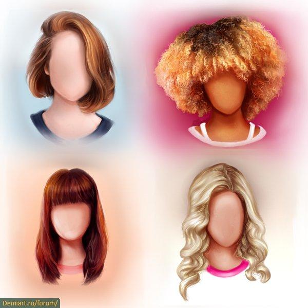 Как рисовать волосы реалистично