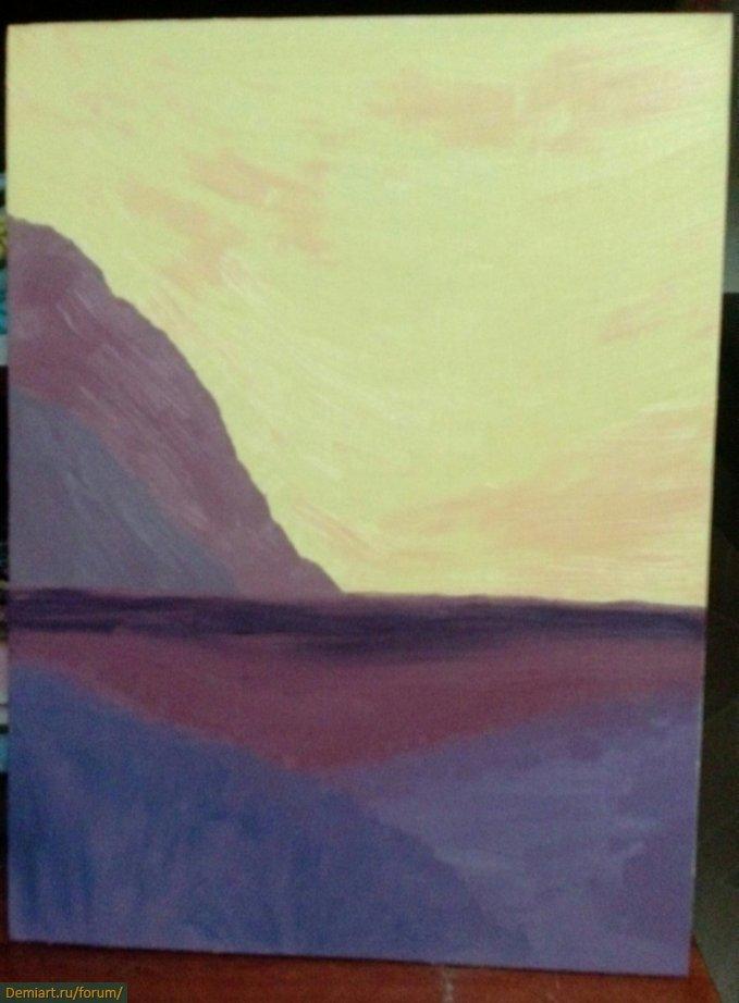 Ночной морской пейзаж. Урок Walfrido Garcia