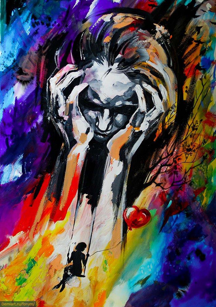 Красочные эмоциональные картины Vivien Szaniszló