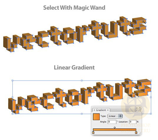 Создадим 3D пиксельный текст.