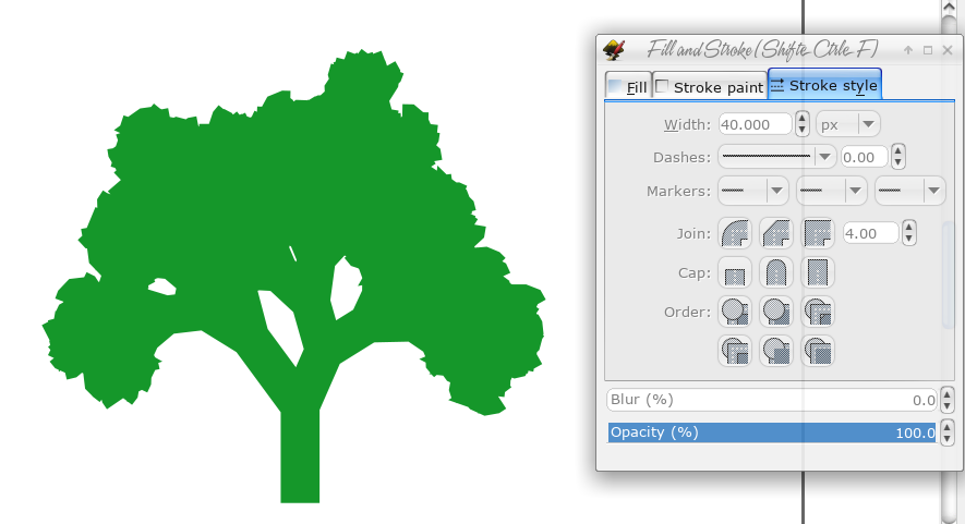 Урок по Inkscape: рисуем дерево