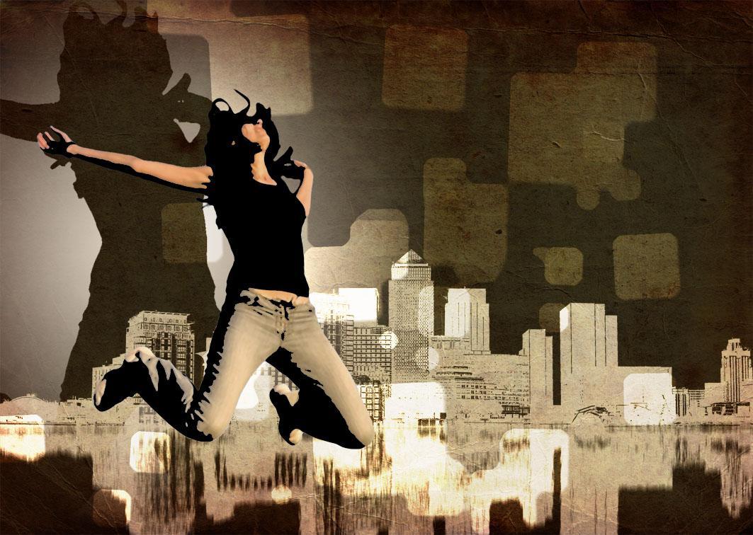 Иллюстрация уличные танцы