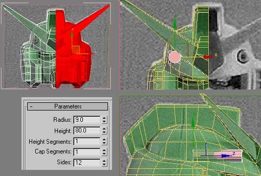 Моделирование робота Gundam RX-78-2 (part 2)