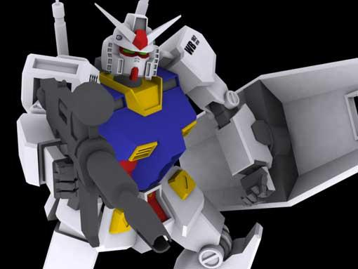 Моделирование робота Gundam RX-78-2 (part 10)