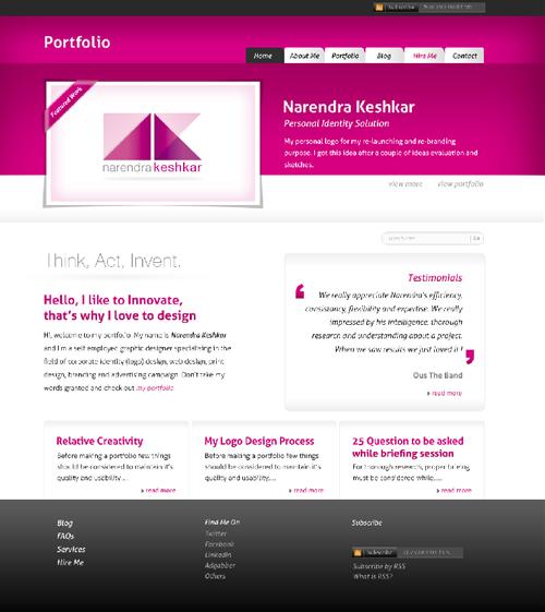 Дизайн сайта бесплатно для портфолио
