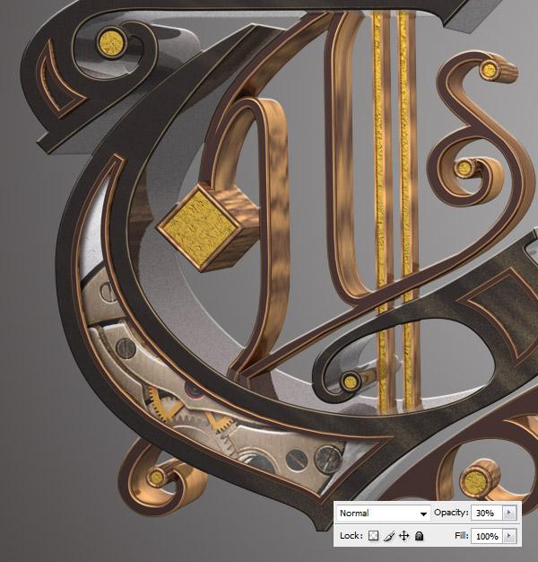 Урок: текст в стиле стимпанк. Illustrator, Cinema 4D и Photoshop. Часть 2. (Фото 39)