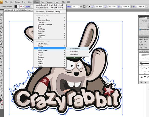 Создаем иллюстрацию забавного зайца
