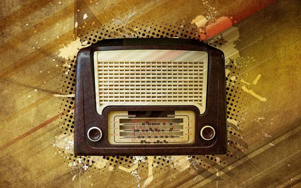 Постер со Старинным Радио
