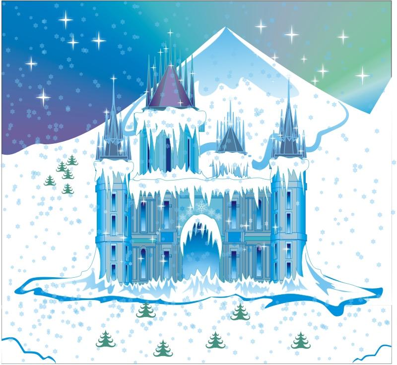 Картинка сказочный дворец снежной королевы последней трансляции