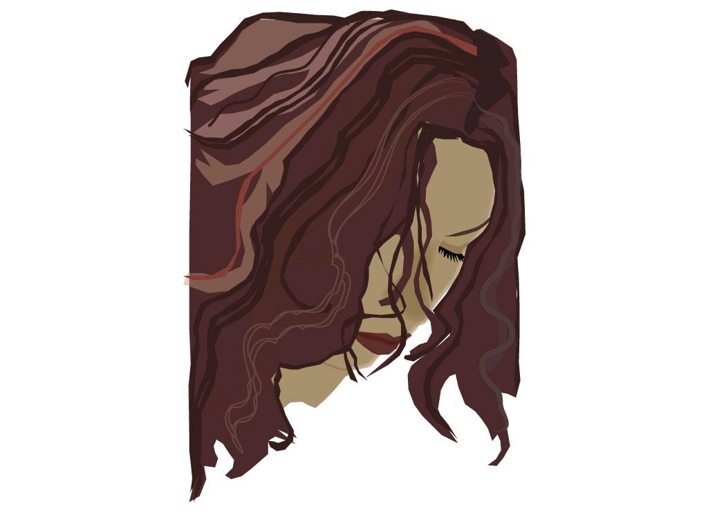 Волосы в Векторе