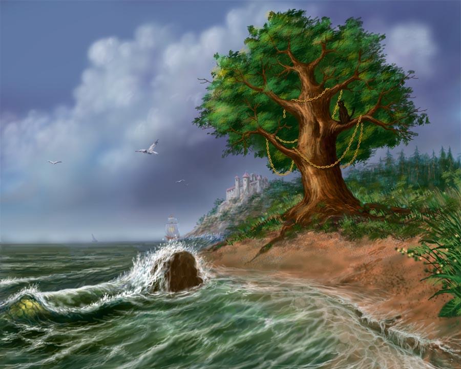 Картинки у лукоморья дуб зеленый-со