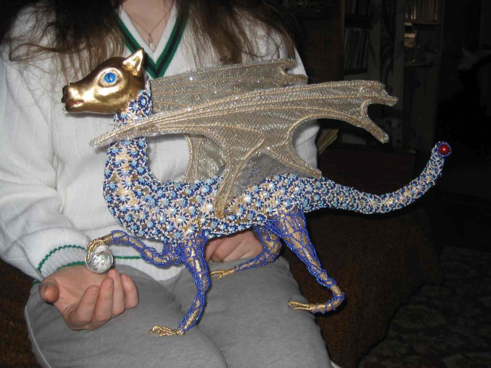 дракончик схема из бисера