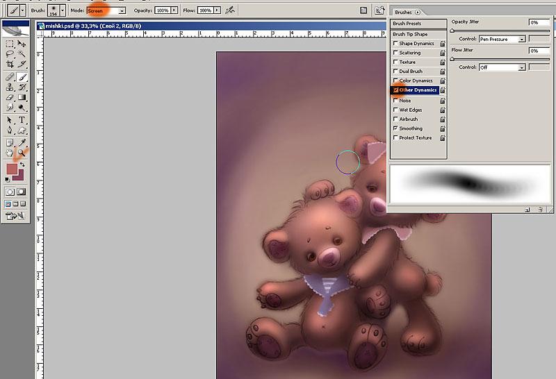Рисуем «Лохматые мишки»