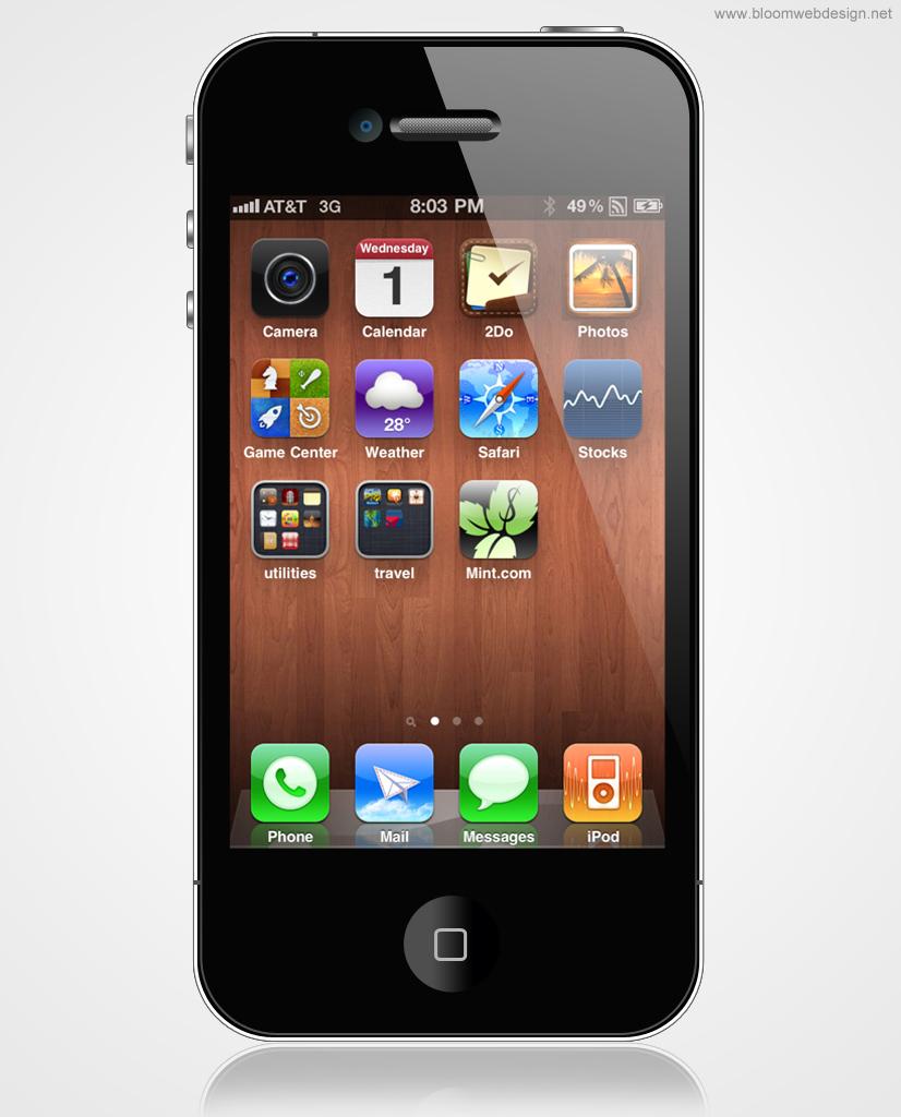 Рисуем Apple iPhone 4S