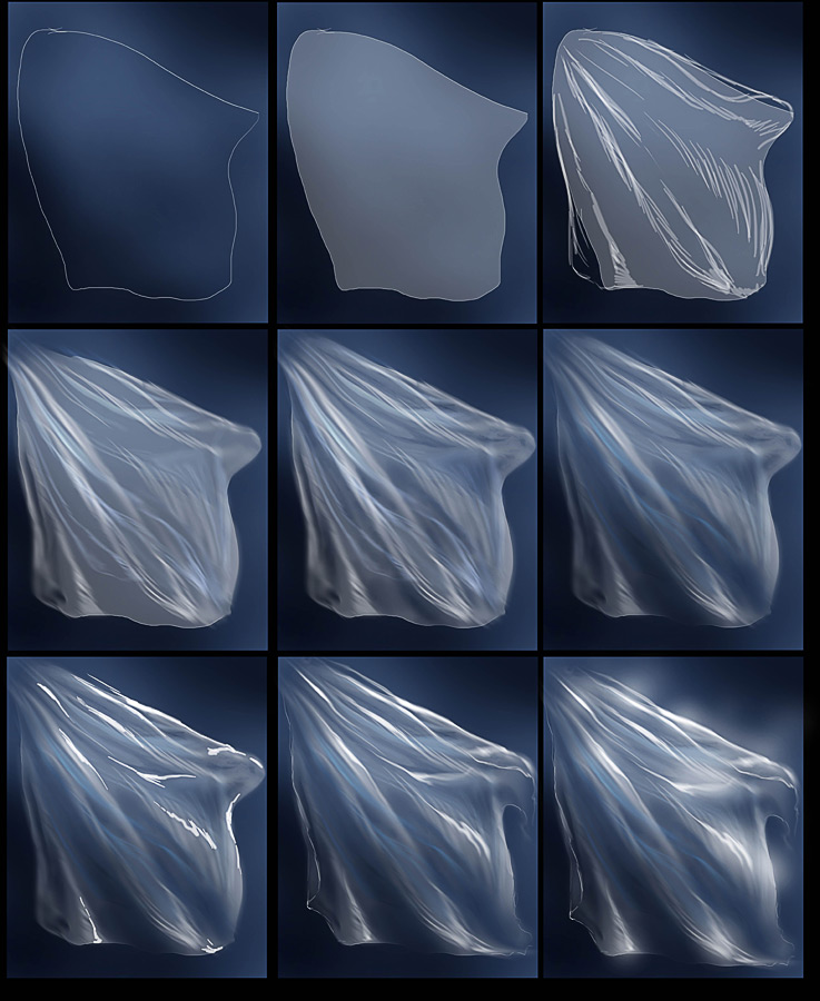 Прозрачная ткань рисунок