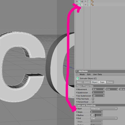 Cinema 4D + Photoshop: Взрываем трёхмерный текст *