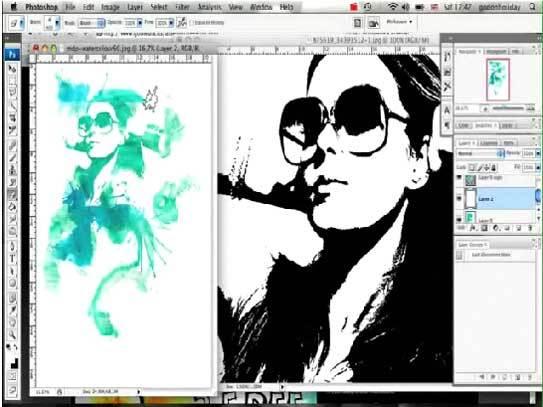 Как из фото сделать рисунок черно белый