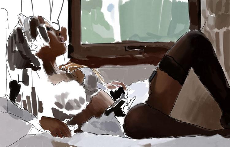 Рисуем девушку Юку *